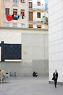 Spain. The Contemporary Art Museum of Barcelona, also known as MACBA in Barcelona..Photos ©Steve Forrest