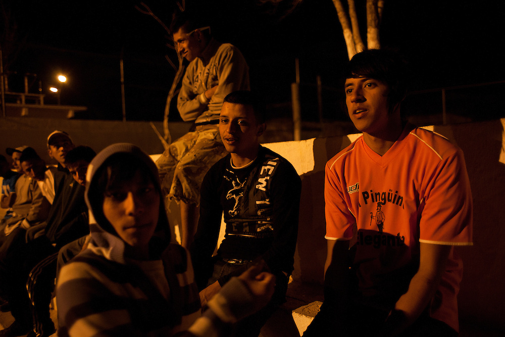"""Youth, primarily of the gang """"Los Noveno"""" hang out and get high on marijuana and paint thinner. Within the last two months one of their members was murdered."""