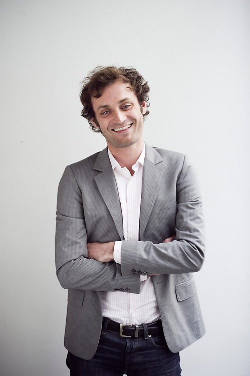 Augustin Trapenard, the archetype of a young parisian intellectual? Shot in front of his house in Paris, France. 6 May 2010. Photo: Antoine Doyen for Metropolitan (Eurostar).