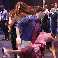 Jessica  Thomas and Michael Dauer, both from Dayton show off their dance moves at the 2007 Arts Gala at Wright State University, Saturday evening..
