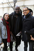January 17, 2013- Paris, France- (L-R) Photographer Ayana V. Jackson Social Rights Activist/Professional Footballer Lilian Thuram and Photographer Lyle Aston Harris attend the Black Portraiture(s): The Black Body in the West Conference Day 1 held at Ecole national superieure des beaux-arts on January 17, 2013 in Paris, France. The Black Body in the West, the fifth in a series of conferences organized by Harvard University and NYU since 2004 explores ideas of the production of self-representation, desire and the exchange gaze from the 19th century to the present day in fashion, film, art and the archives. (Terrence Jennings)