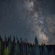 Milky way from the Shoshone National Forest in Wyoming