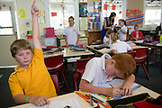 Matthew Haggerty and 10 year old James Reilly studying at school in Wyalkatchem, Western Australian Wheatbelt. 10 December 2012 - Photograph by David Dare Parker