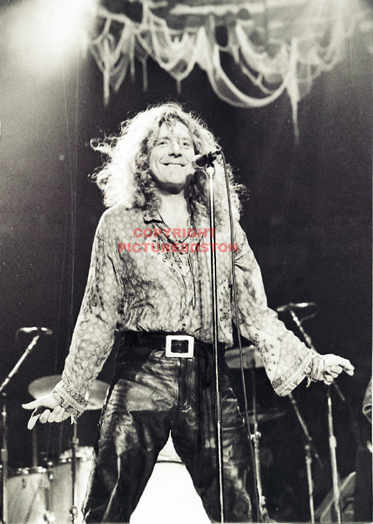 Robert Plant in 1995, as part of Page and Plant at Boston Garden. Photo by Mark Garfinkel