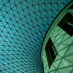 Glass ceiling, British Museum, London, England