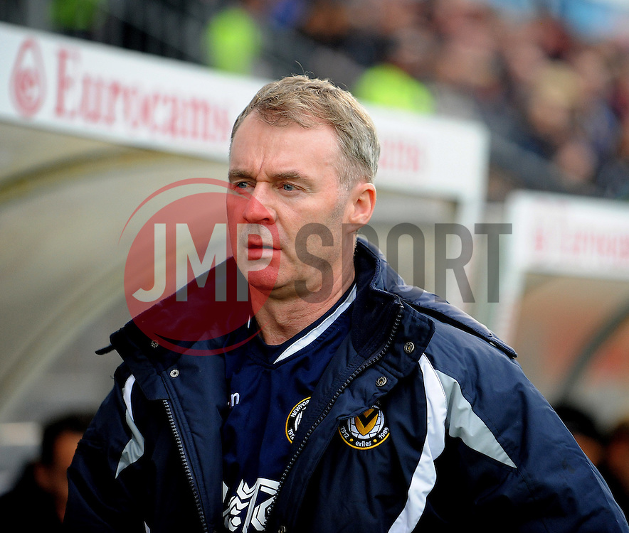 Newport County Manager John Sheridan - Mandatory byline: Neil Brookman/JMP - 07966 386802 - 24/10/2015 - FOOTBALL - Memorial Stadium - Bristol, England - Bristol Rovers v Newport County AFC - Sky Bet League Two