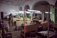 Cigar factory in Gibara, Holguin, Cuba.
