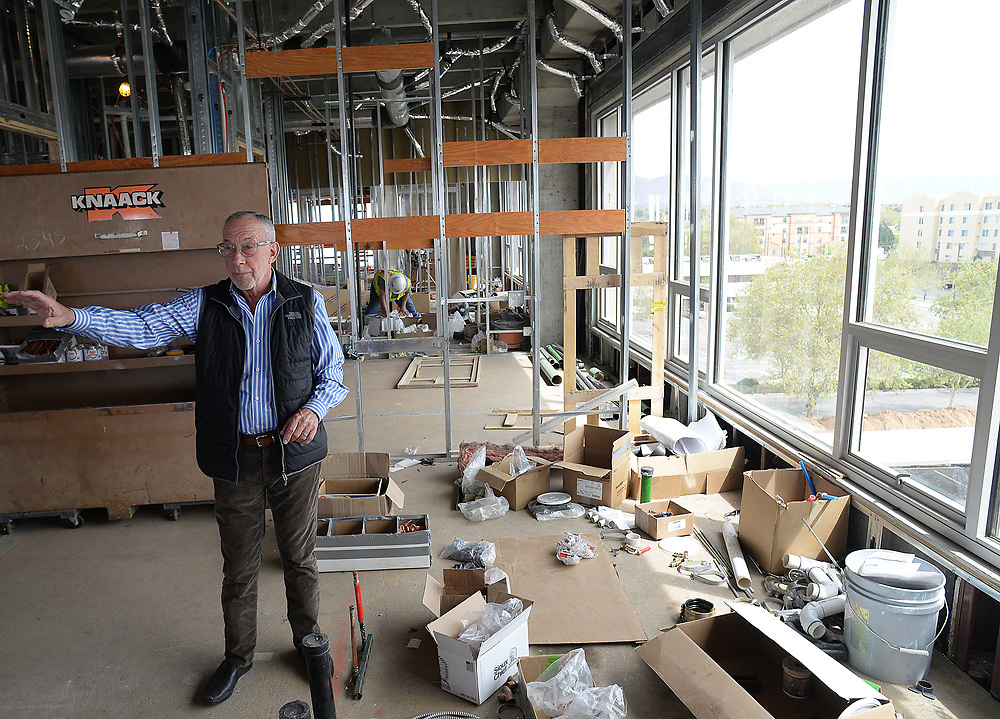 apl041117g/BUSINESS/pierre-louis/JOURNAL 041117<br />  John Lewinger,, Founder of the Colliers International  talks about the 24@ Uptown , a mixed-use development that will include office, retail and condos on the top floor .Photographed on Tuesday April 11, 2017. .Adolphe Pierre-Louis/JOURNAL