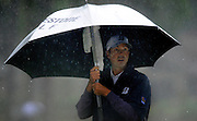 Matt Kuchar listens to his caddy on the seventh green during the second round of the RBC Heritage golf tournament in Hilton Head Island, S.C., Friday, April 18, 2014. (AP Photo/Stephen B. Morton)