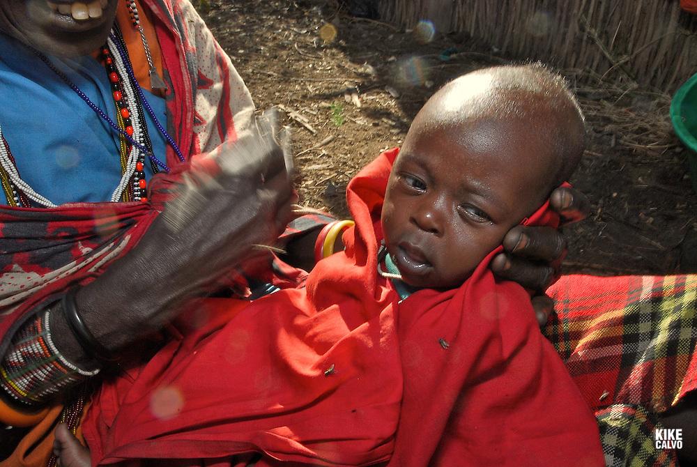 Masai Mara tribe around the Masai Mara National Park. Kenya. East Africa.