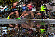 Runners make the turn and head into Fair Oaks Village during the California International Marathon, Sunday, December 6, 2015.<br /> Brian Baer/Special to The Bee