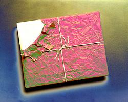 package string kraft paper torn corner squander waste dissipate ravage misuse desecrate devastate