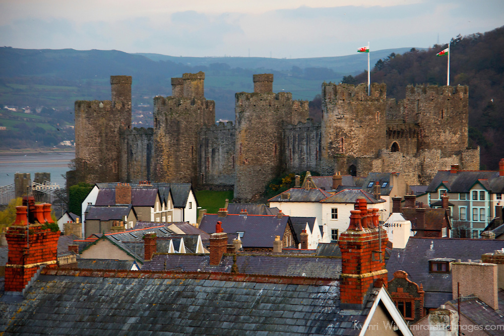 View of Conwy Castle from the town ramparts.