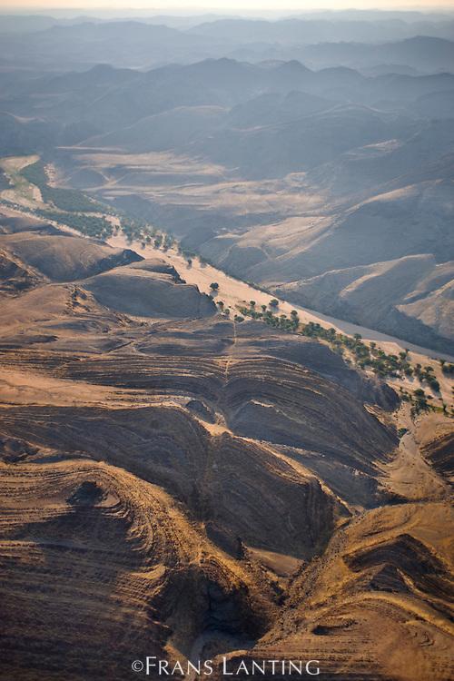 Dry riverbed (aerial), Ugab River, Damaraland, Namibia
