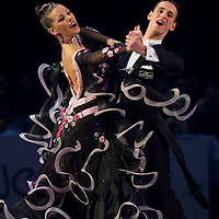 23 January 2010:  Stefania Vitacca and Salvatore Vitacca perform during the Masters Bercy Latin and Ballroom (standard) Dancesport Championship 2010, at Palais Omnisports Paris Bercy, in Paris, France. .
