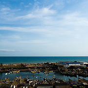 View of the fishing harbor of Elmina, about 130km west of Ghana's capital Accra on Thursday April 9, 2009..