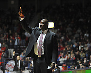 "Ole Miss assistant coach Al Pinkins vs. Georgia at the C.M. ""Tad"" Smith Coliseum on Saturday, February 16, 2013. Mississippi won 84-74 in overtime. (AP Photo/Oxford Eagle, Bruce Newman)"