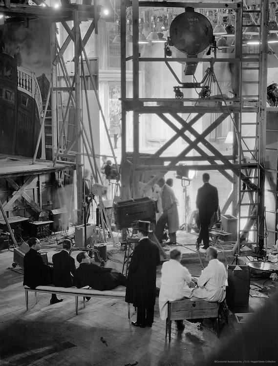 Crew on the Set, UFA Studios, Potsdam-Babelsberg, 1928