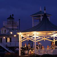 USA, Maryland, Big Band Night at the Chesapeake Bay Maritime Museum in Saint Michael's along Chesapeake Bay