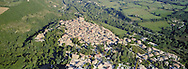 24 August 2016, Amatrice Italy. One month later the earthquake a view from helicopter of the Amatrice.