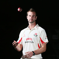 Lancashire County Cricket Captain Tom Smith poses after the photo call at Old Trafford Cricket Ground in Manchester.<br />