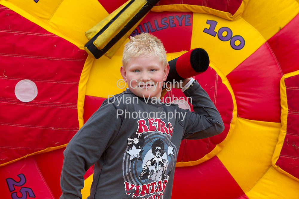 Repro Free.31/8/2012..Respond! Housing Association held a family day at Ardrew Meadows in Athy Co Kildare as part of the charity's 30th Jubilee anniversary celebrations this year. Pictured at the family day was Brandon Nolan aged 9 from Athy..Picture Dylan Vaughan.