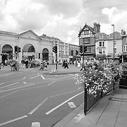 City Central Intersection - Salisbury, UK - Black & White