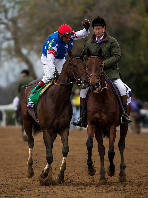 October 31, 2015: Runhappy with Edgar Prado win the  Breeders' Cup Sprint at Keeneland Race Track in Lexington, Kentucky. Evers/ESW/CSM