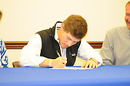 Water Valley baseball player Cole Camp signs to play baseball at Northeast Community College, in Water Valley, Miss. on Tuesday, March 25, 2014.
