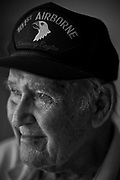 William DeShazer/Staff<br /> Bedford Biles, 92, of Marco Island, joined the Army in 1942 while on a football scholarship at Duke University in Durham, N.C.<br /> <br /> Biles was with the Army 101st Airborne Screaming Eagles 501st Parachute Regiment and landed about three miles west of Omaha Beach in France in the middle of the night before D-Day. Through the smoke and gunfire, the demolition specialist landed safely behind enemy lines with 10 pounds of C2 explosives strapped to his body.<br /> <br /> One mission after another he succeeded. He helped in securing the locks of the Douve River, took back the town of Carentan, and fought in the Battle of the Bulge, the last major German offensive.<br /> <br /> He was wounded by shrapnel and broke his back earning three Purple Hearts. He also earned the French Legion of Honor &mdash; France&rsquo;s highest award &mdash; as well as many other medals.<br /> <br /> &ldquo;When you&rsquo;re in that foxhole and there&rsquo;s 2 feet of snow on the ground, you had to believe in three things,&rdquo; Biles said. &ldquo;In God, in country and in family.&rdquo;