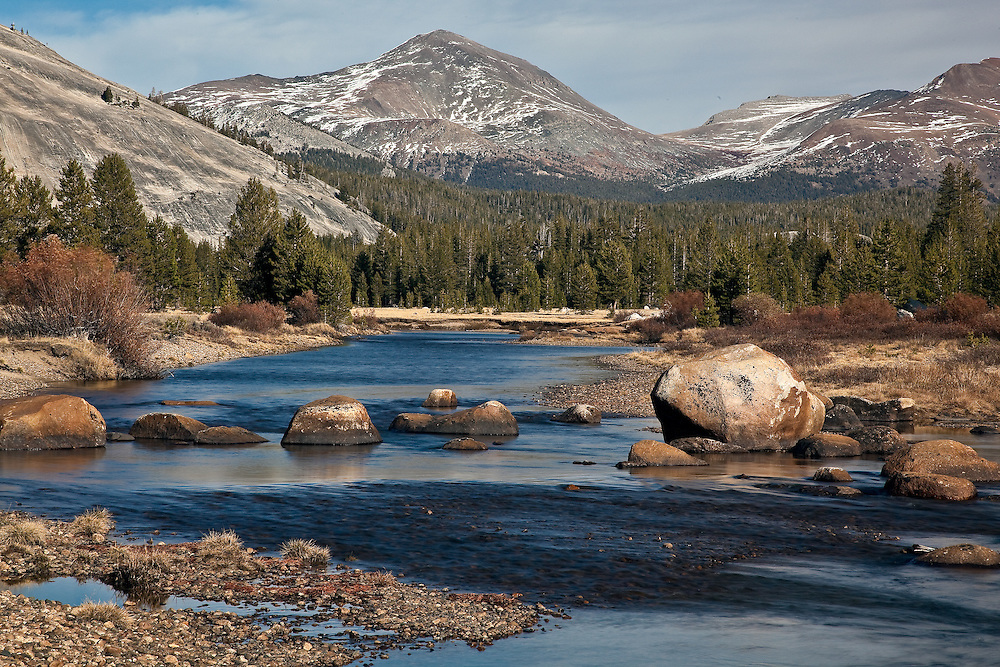 Yosemite national park tuolumne meadows river off tioga road this is