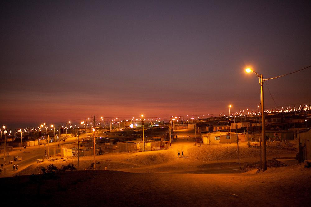 The sun sets on Thursday, Apr. 16, 2009 in Ventanilla, Peru.