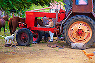 Tractor in Playa La Altura, Pinar del Rio, Cuba.