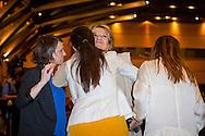 11-10-2016 BUENOS AIRES  - the parents of Queen Maxima Jorge Zorreguieta en zijn vrouw Maria del Carmen cerruti Zorreguieta , de ouders van koningin Maxima en haar zus Ines , Public Address at Universidad Católica Argentina , San Agustín Auditorium, UCA during her speech .   Queen Maxima visits Argentina in its role of special advocate of the Secretary-General of the United Nations for Inclusive Finance for Development. COPYRIGHT ROBIN UTRECHT NETHERLANDS ONLY Koningin Maxima  bezoek Argentinie in haar functie van speciale pleitbezorger van de secretaris-generaal van de Verenigde Naties voor Inclusieve Financiering voor Ontwikkeling. COPYRIGHT ROBIN UTRECHT NETHERLANDS ONLY