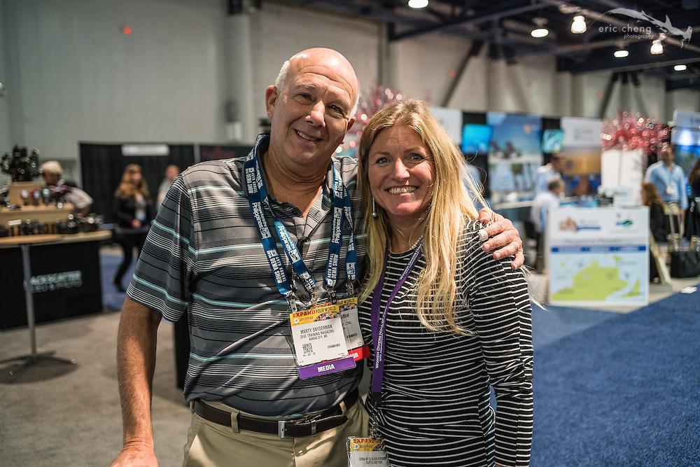 Marty Snyderman and Annie Crawley(DEMA 2016, Las Vegas)