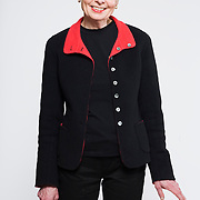 Writer Elinor Clift photographed in Washington, DC, 22 February, 2008.