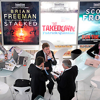 London Book Fair at the Earls Court Exhibition Centre in London. Photo shows the deals being made and discussions taking place in the International Rights Centre of the hall..Photo@Steve Forrest