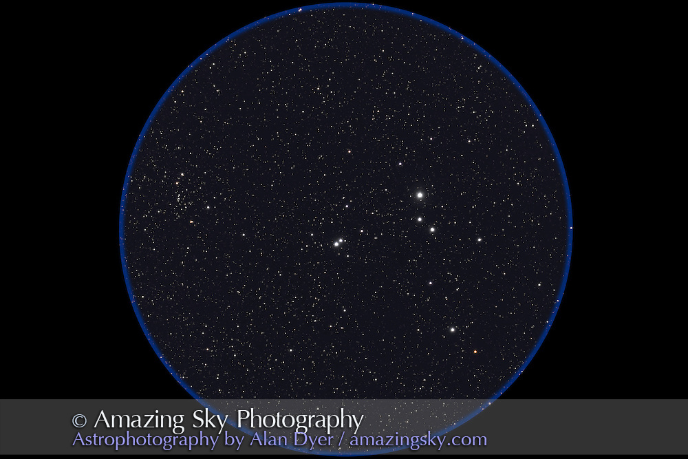 IC 2391 Cluster in Vela. NGC 2669 to the left. Taken with 4-inch AP Traveler apo refractor at f/4.5 with Canon 20Da camera at ISO 800 for stack of 4 x 2 minute exposures. Taken from Coonabarabran