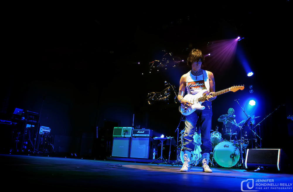 Guitarist Jeff Beck live at Summerfest. Photo © Jennifer Rondinelli Reilly. All rights reserved. May NOT be used without permission.