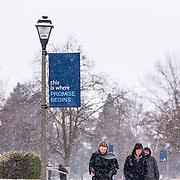 Snow on campus Dec. 9.
