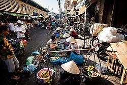 Street market in Cholon, Ho Chi Minh City (Saigon), Vietnam, Southeast Asia