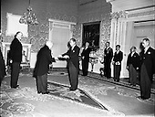 1957 New Japanese Minister Anika Ohye presenting his Credentials at Aras an Uachtarain