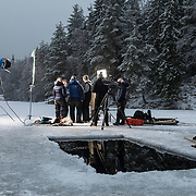 Ice Swimming in Oslo, BBC Locational filming