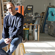 Philip Watts in his workshop in Nottingham, UK. CREDIT: Vanessa Berberian for The Wall Street Journal<br /> GURU-WATTS