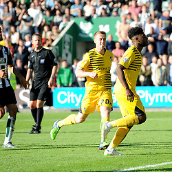 Ellis Harrison of Bristol Rovers celebrates the equaliser - Mandatory byline: Neil Brookman/JMP - 07966 386802 - 19/09/2015 - FOOTBALL - Home Park - Plymouth, England - Plymouth Argyle v Bristol Rovers - Sky Bet League Two