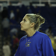 Delaware Forward Elena Delle Donne (Center) suffers from a recurrence of Lyme disease. Delle Donne did not play in the  Quarterfinals of the Women's National Invitation Tournament  Sunday, Nov. 11, 2012 at the Bob Carpenter Center in Newark Delaware....