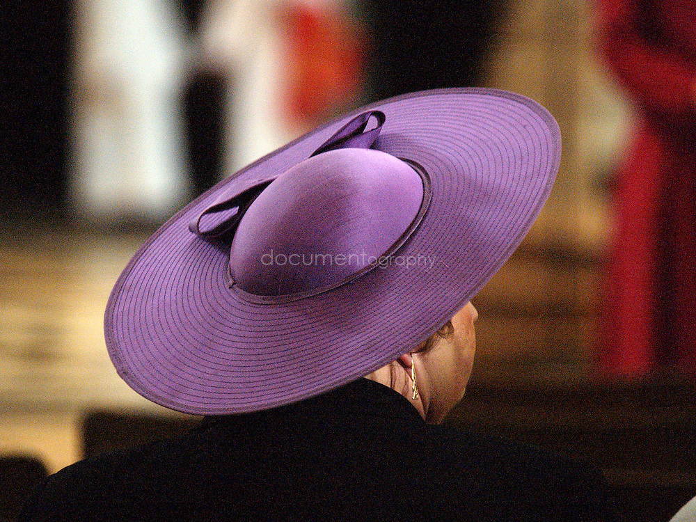 A lady in the congregation during the Consecration of the Bishop of Repton at St Paul's Cathedral.