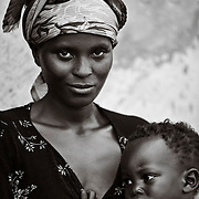 A woman and her daughter in the Genocide Survivors Village, Rugerero Rwanda