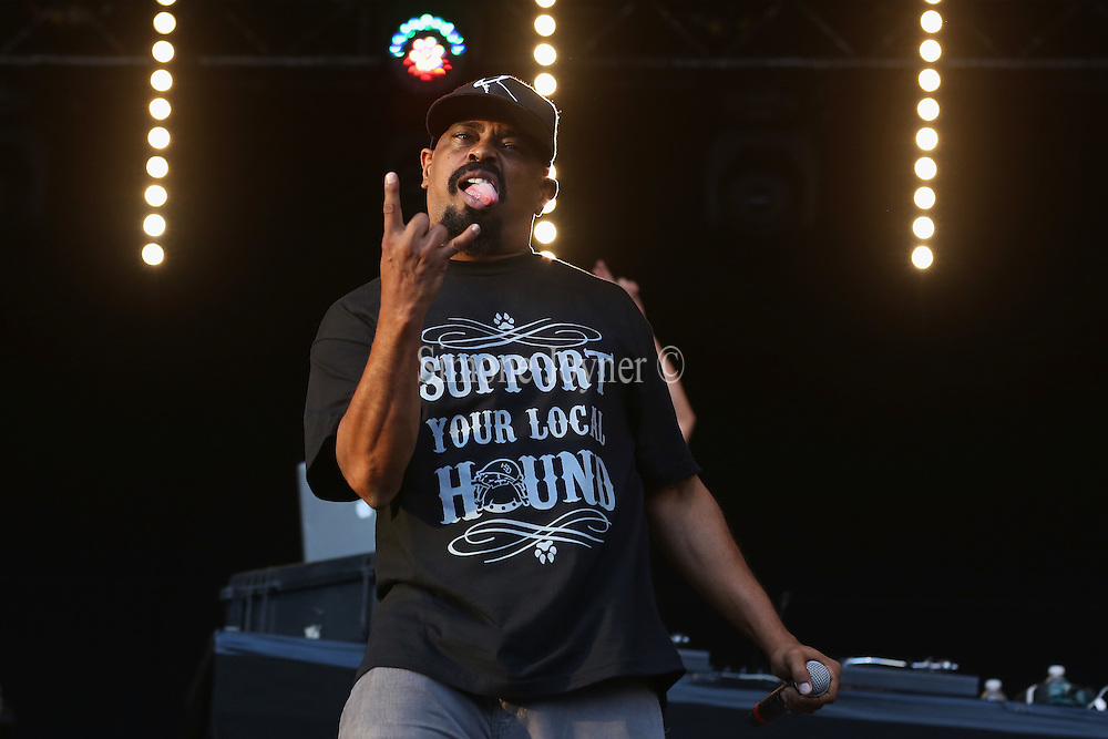 LONDON, ENGLAND - JULY 17:  Sen Dog of Cypress Hill performs live on the Main Stage during day one of Lovebox Festival 2015 at Victoria Park on July 17, 2015 in London, England.  (Photo by Simone Joyner/WireImage)