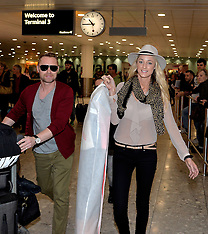 MAY 07 2014 Ronan Keating and Australian girlfriend Storm Uechtritz
